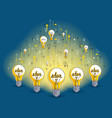 group of shining light bulbs represents idea of vector image vector image