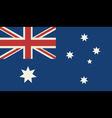 Grunge Flag Of Australia vector image vector image