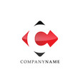 initial letter c logo with negative space design vector image vector image