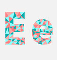 letter e low poly alphabetgeometric styleabstra vector image vector image