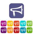 loudspeaker icons set flat vector image vector image