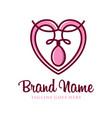 love outline symbol logo design your company vector image vector image