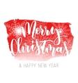 Merry Christmas hand written inscription vector image vector image