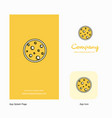 moon company logo app icon and splash page design vector image