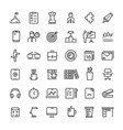office and time management icons collection vector image