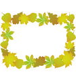 ornament of autumn leaves around vector image