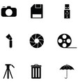 photographic equipment icon set vector image