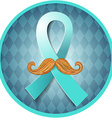 Prostate cancer blue vector image