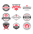 restaurant logos badges and labels design vector image vector image