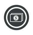 Round black dollar bill sign vector image vector image