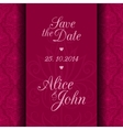 Save the date invitation card vector image vector image