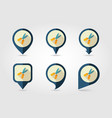 secateurs pruner averruncator flat pin map icon vector image