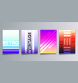 set colorful gradient cover with lines for vector image