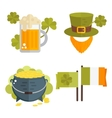 Set of flat cons for StPatricks day vector image vector image