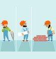 set of hipsters builders vector image