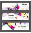 Set of horizontal polygonal triangles vector image vector image