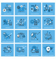 set of thin line concept icons vector image