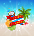 summer festival poster design with coconut vector image vector image