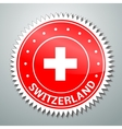Swiss flag label vector image vector image