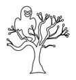 trick or treat - happy halloween line design vector image