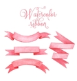 Watercolor tape Set of banners vector image vector image