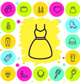 womans shopping vector image