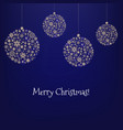 xmas card with christmas ball and star vector image