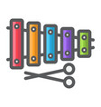 xylophone filled outline icon music vector image