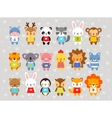 Set of animals in cartoon style vector image