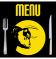 steak menu vector image
