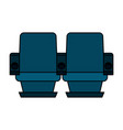 theater chairs icon image vector image