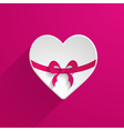 3d paper heart icon vector image