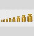 3d realistic metal golden calibration vector image vector image