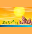 a beach island landscape vector image