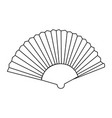 abstract old fan vector image vector image
