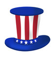 american hat icon happy 4 th july and vector image vector image