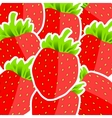 Background from strawberries vector image