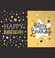 beautiful birthday invitation card design gold and vector image
