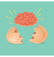 Brain Born Egg vector image vector image