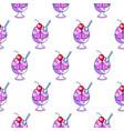 brain icecream funny cartoon seamless pattern vector image vector image