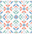 bright folk art daisy quilt all over print vector image vector image