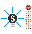 business idea bulb icon with lovely bonus vector image