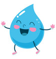 cartoon raindrop vector image vector image