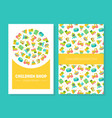children shop business card template with cute vector image vector image