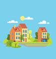 city houses facades vector image vector image