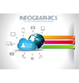 Cloud Computing Infographic concept background vector image vector image