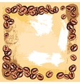 coffee beans frame vector image vector image
