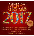 Colorful Merry Christmas 2017 greeting card vector image vector image