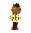 comic cartoon man wearing hat vector image vector image