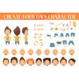 creation character boy set vector image